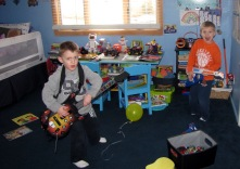 Rocking out after cake!